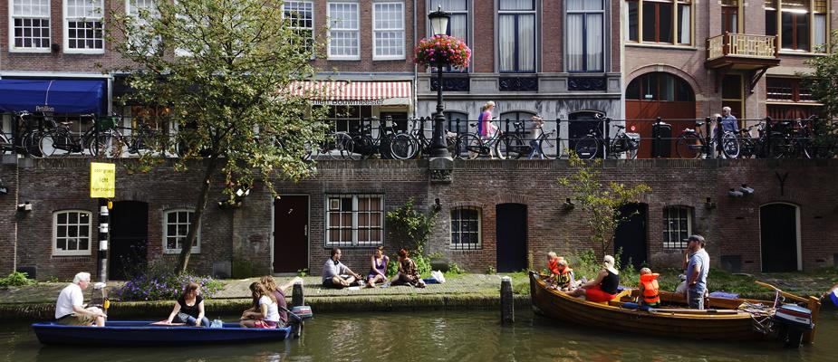 Oudegracht-Utrecht-Bootjes
