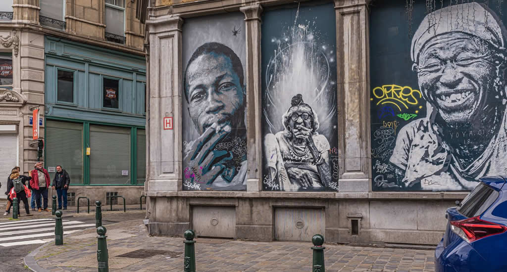 Street art in Brussel | Mooistestedentrips.nl