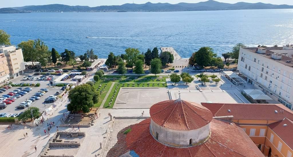 Bezienswaardigheden Zadar, uitzicht vanaf de St. Anastasia kathedraal   Mooistestedentrips.nl