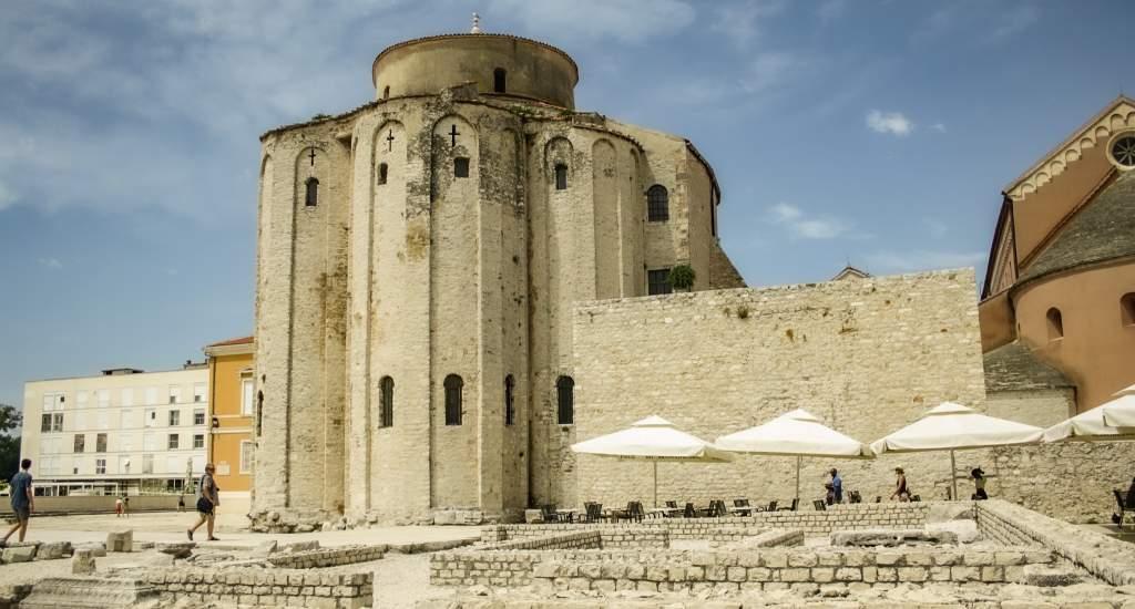 Zadar bezienswaardigheden: St. Donatuskerk   Mooistestedentrips.nl
