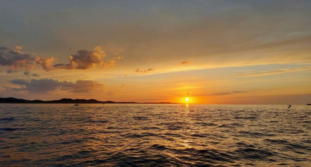 Bezienswaardigheden Zadar: zonsondergang   Mooistestedentrips.nl